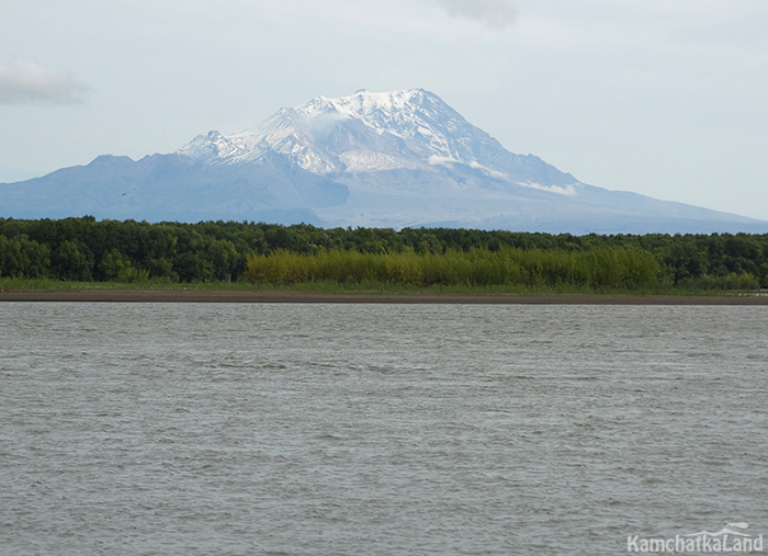вулканы и река Камчатка